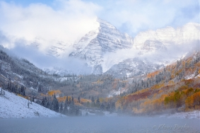Emerging Dawn - Maroon Bells, Colorado