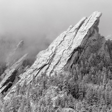 Third Flatiron Clearing Storm - Boulder, Colorado