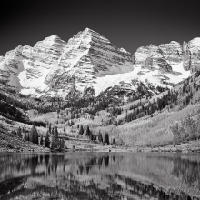 Maroon Bells Autumn Snow - Elk Mountains, Colorado