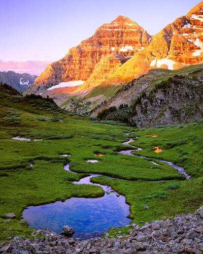 Maroon Sunrise - Maroon Bells Snowmass Wilderness, Colorado