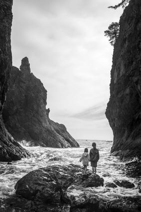 Between Sea Stacks - Rialto Beach, Washington