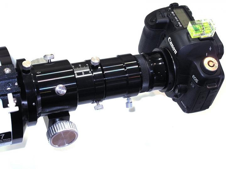 Canon Attached To Telescope