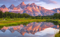 Wallpaper - Teton Reflection