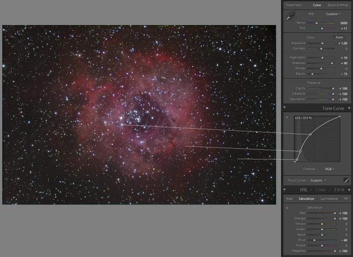 Astro Image Processing - Tone Curve