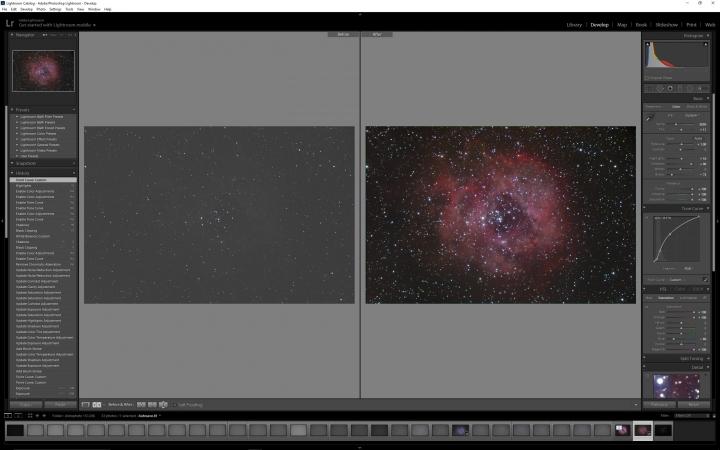 Astro Image Processing - Lightroom