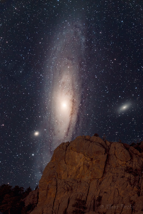 Andromeda Setting - Astrophoto