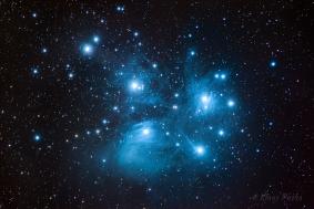 Pleiades Angel - Astrophoto