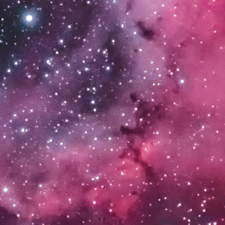 Rosette Nebula - Stacked and Processed 100% Crop