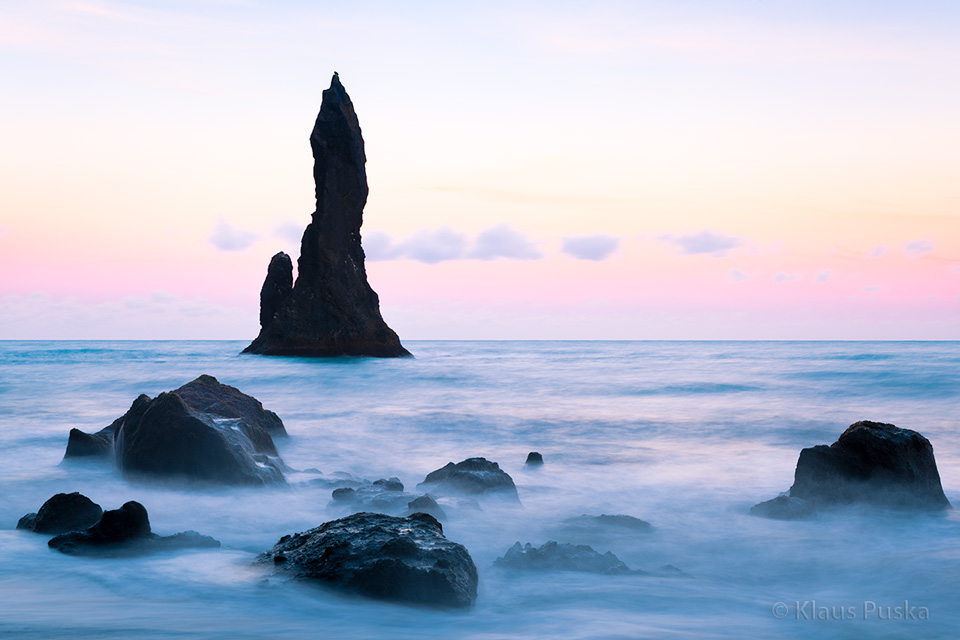 Sea Stack Pastels Iceland Nature Windows Photography